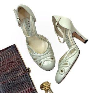 Christian Lacroix Vintage Round Toe Mary Jane Heel